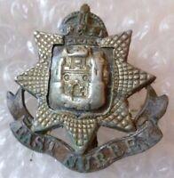 Badge- WW1 East Surrey Regiment Cap Badge (Bi-Metal, Org**)