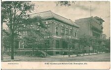 Southern and Athletic Club in Birmingham AL Postcard 1909