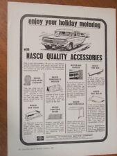 1965 EH Holden NASCO Accessories original Australian full page advertisement