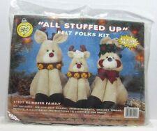 All Stuffed Up Felt Folks Kit 61101 Reindeer Family NIP What's New Ltd.