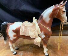 Vtg Breyer Traditional Horse Leather Western W Saddle & Halter Rare Rhtf