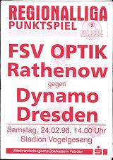 RL 1995/96 FSV Optik Rathenow - Dynamo Dresden, 24.02.1996 ausgefallen