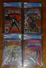 MARVEL SUPER HEROES SECRET WARS #8 10 11 12 COMICS LOT CGC GRADE 4.0 4.5 6.5