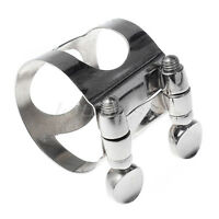 5 Pcs Bb Clarinet Mouthpiece Ligature Clarinet Parts Professional Nickel Plated