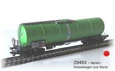 Aus Märklin 29463 EIN Knickkesselwagen Zans der SBB grün 4-achsig