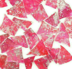 100 PINK with METALLIC SILVER Mosaic Glitter Glass tiles by Makena Tile