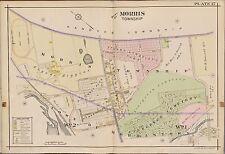 1910 A.H. MUELLER, MORRIS TOWNSHIP, NEW JERSEY EVERGREEN CEMETERY COPY ATLAS MAP