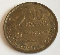 Ref4 Monnaie 50 Francs Guiraud 1952 Etat Voir Photos Contractuelles