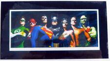Warner Bros. ORIGINAL SEVEN Alex Ross Art Laminate Promo Binder Page Sheet