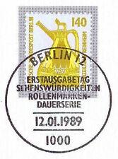 Berlin 1989: Bronzekanne Reinheim Nr 832 mit dem Ersttags-Sonderstempel! 1A 159