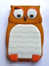 OWL Brown Silicone Back Case for iPod Touch 4 / iPod 4th Gen with FREE POSTAGE