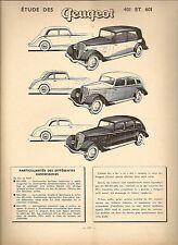 REVUE TECHNIQUE AUTOMOBILE 63 RTA 1951 ETUDE PEUGEOT 401 + PEUGEOT 601