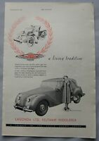 1949 Lagonda Original advert No.1