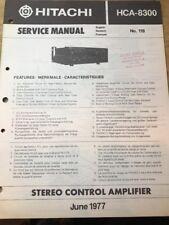 Original Hitachi HCA-8300 Stereo Control Amplifier Service Manual