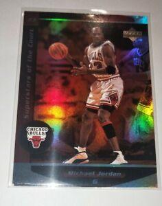 1998 Upper Deck Superstars Of The Court Refractor Like Michael Jordan Card #C1