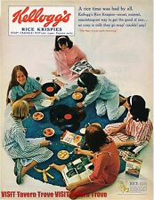 Kellogg's Rice Krispies Pajama Party 14x10 Paper Ad Tavern Trove