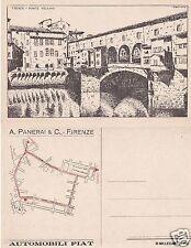 # FIRENZE -Serie 12 c.  vedute dis. SCATTINA - AUTOMOBILI FIAT-  A. PANERAI & C
