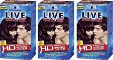 3X Schwarzkopf Live XXL Permanent Hair Colour 888 Damson Wine