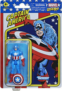 "Kenner Marvel Legends Captain America Retro 3.75"" Figures - Captain America"