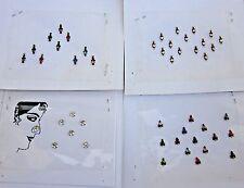Bindi Indian Gothic Boho Lot 4 Paket Bindi Belly dance Jewelry