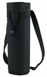 Black Insulated Ice Bottle Cool Bag Picnic Drinks Carrier Wine Champagne Cooler