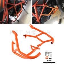 For KTM 1290 Super Duke R GT Orange Side Crash Bar Hoop Frame Bumper Guard 14-18