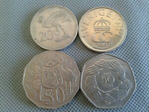 OLD COIN LOTS World/Foreign coins 4 COINS!! 1900s+ *COLLECTIBLES*