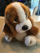 "Vintage 1981 Applause Sad Sam Jr. Hound Puppy Dog Plush Stuffed Animal  8"" NWT"