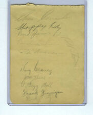 1937 TORONTO MAPLE LEAFS SIGNED PAGE BUSHER JACKSON/DICK IRVIN/CHARLIE CONACHER