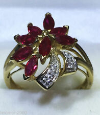 Solid Gold Diamonds Ruby Fine Rings