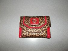 G by Guess Women's leapord print and red trim deluxe wallet pocketbook pre owned