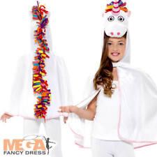 Unicorn Cape Girls Fancy Dress Fairy Tale Animal Childrens Kid Costume Accessory