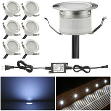 6Pcs Cool White LED Deck Lights Stairs Yard Garden Landscape Patio Lamp IP67
