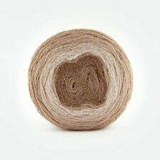 Caramel Brown Glitter Cake 150g Silver Sparkle Yarn wool crochet knitting DK