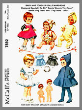 McCall's Doll's Wardrobe Doll Clothes Fabric Sewing Pattern # 7592