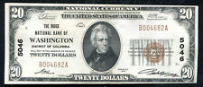 1929 $20 THE RIGGS NB OF WASHINGTON, D.C. NATIONAL CURRENCY CH #5046 UNC (E)