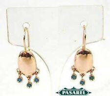 Stunning 14k Rose Gold Turquoise Designer Earrings