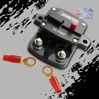 2pcs 40 AMP IN-LINE POWER MARINE RATED CIRCUIT BREAKER REPLACES FUSE HOLDER 12V
