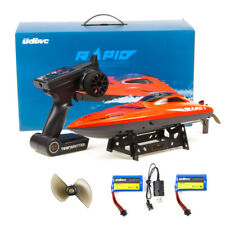 UDIRC RC Racing Boat 2.4G 30KM/H High Speed Remote Control Boat Toys 2 Batteries