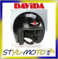 80227 CASCO DAVIDA 80-JET TWO TONE MATT BLACK 2P BLACK STRIPE M