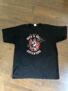 Original Rock AM Ring T-shirt (2010) Kiss, Muse, RATM, Rammstein XL BLACK Men's