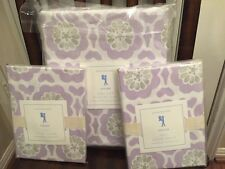 3pc NWT Pottery Barn Kids Floral Vivian Duvet Shams Lavender/Gray Full Queen NWT