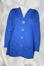 NEW Womens Silhouettes Button Front Cardigan 1X Cobalt