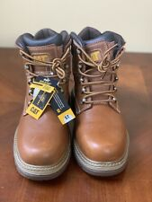 Caterpillar Men's Fairbanks Steel Toe Leather Slip Resistant Work Boots Size10.5