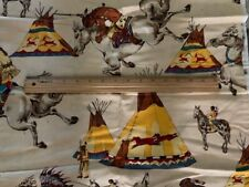 "Cowboys & Indians 100% Cotton Fabric by Alexander Home Collection-35"" Piece"