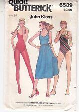 Swimsuit Skirt One-piece Scoop Neck Butterick Sewing Pattern 6539 Sz 14 Uncut