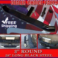 """Hitch Step 3"""" Black PAINTED Steel Truck SUV 28"""" Bumper Guard Fits 2"""" Receivers"""