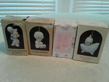 Lot Of 4 Precious Moments Ornaments, New And Never Been On Display Mint In Boxes