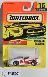Matchbox Superfast Mustang Mach III 3 White #15 FNQHotwheels FM507