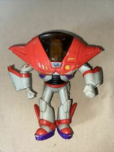 Rare Disney Buzz Lightyear Toy Story Action Figure Grey & Red Star Command